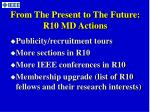from the present to the future r10 md actions1