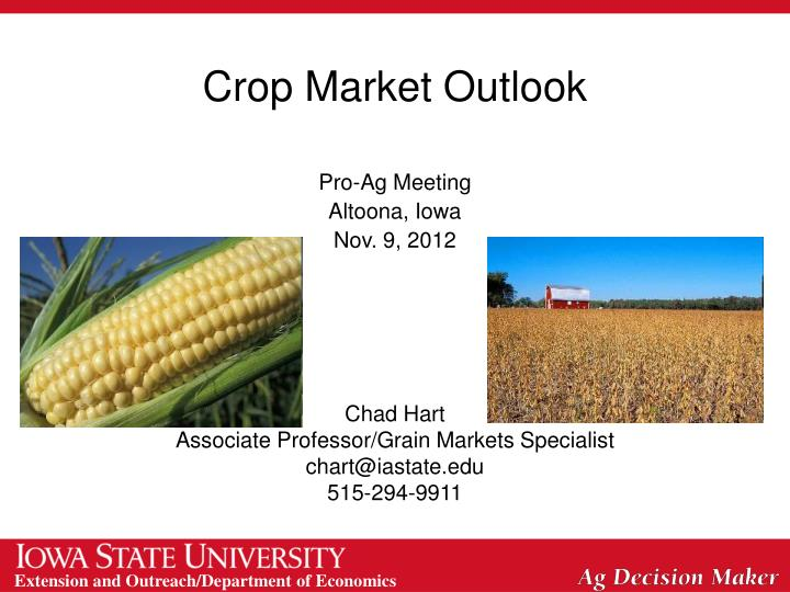 Crop Market Outlook