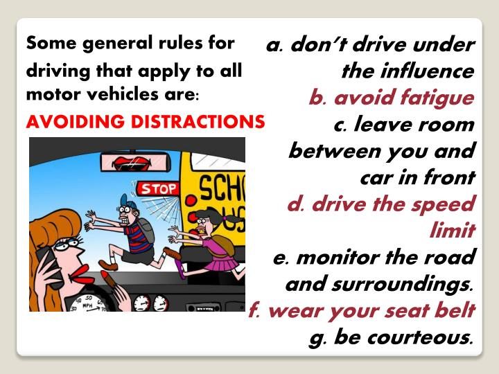 Some general rules for