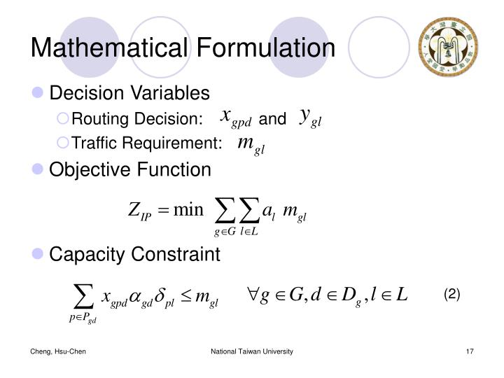 Mathematical Formulation