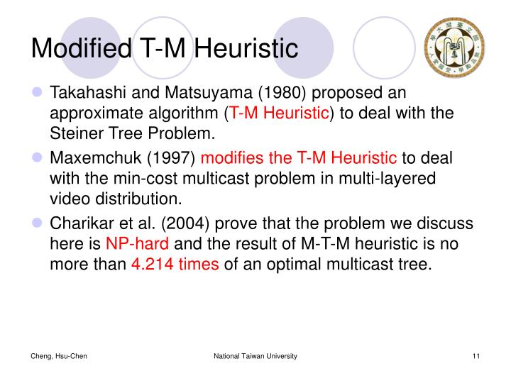 Modified T-M Heuristic