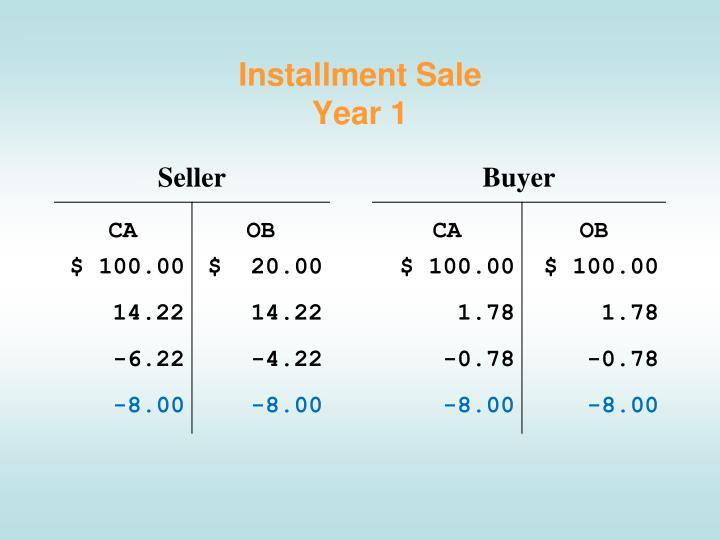 Installment Sale