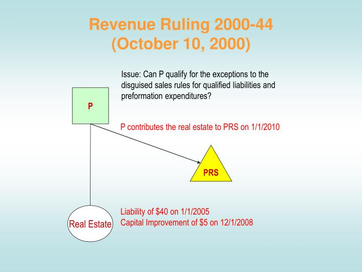 Revenue Ruling 2000-44