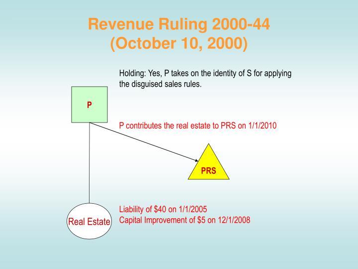 Revenue Ruling 2000-44