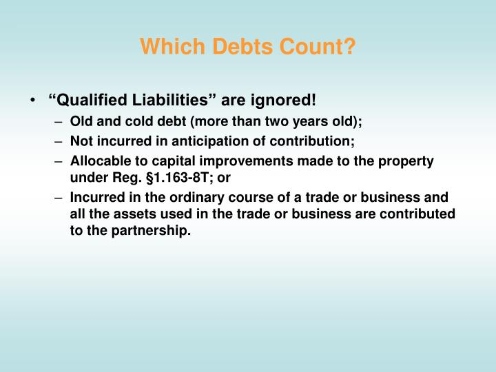 Which Debts Count?