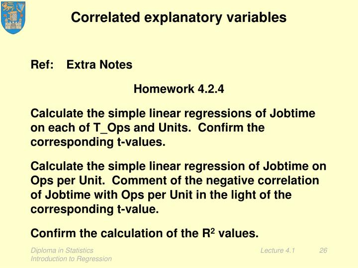 Correlated explanatory variables
