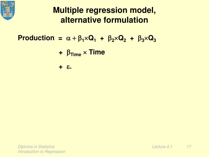 Multiple regression model,