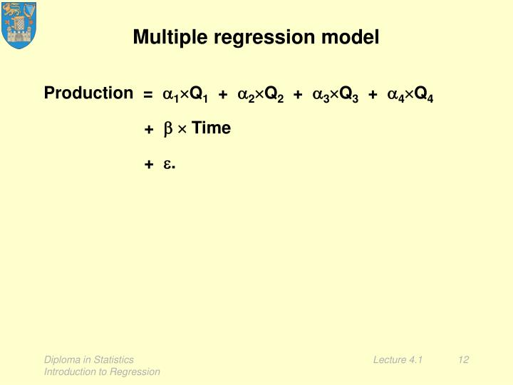 Multiple regression model