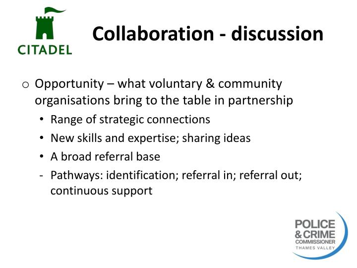 Collaboration - discussion