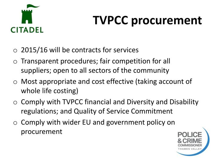 TVPCC procurement