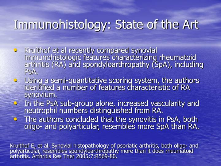 Immunohistology state of the art