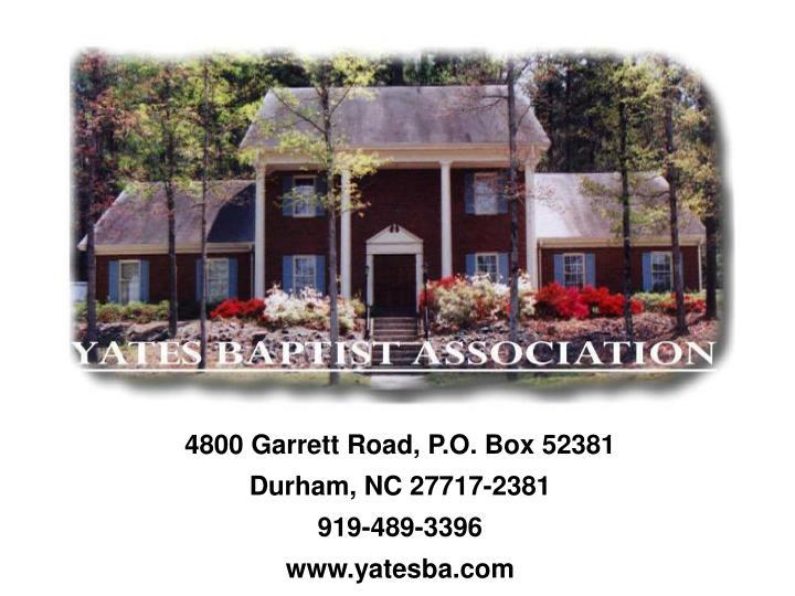 4800 Garrett Road, P.O. Box 52381