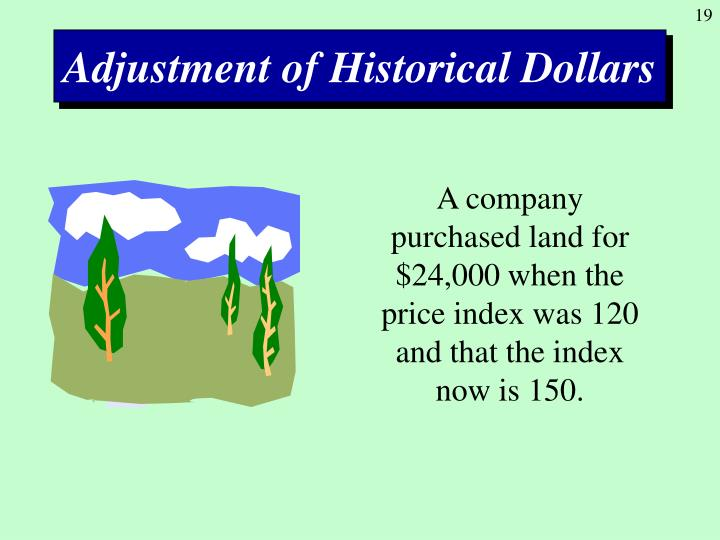 Adjustment of Historical Dollars