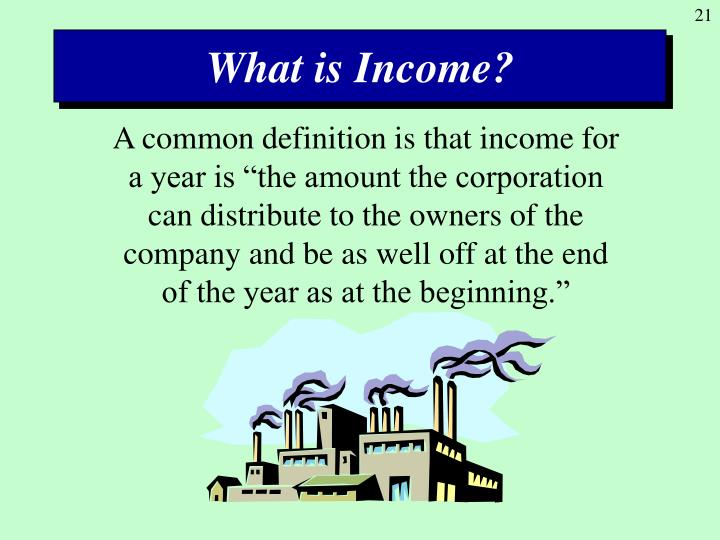 What is Income?