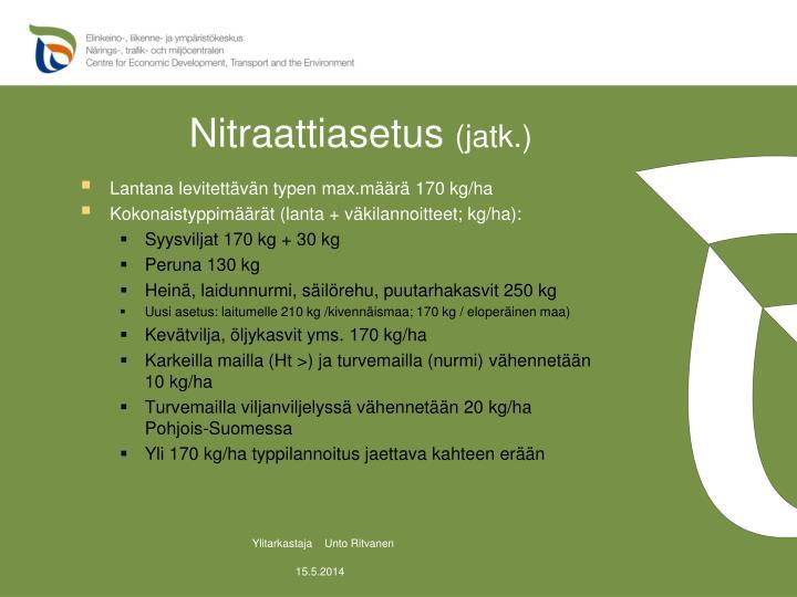 Nitraattiasetus