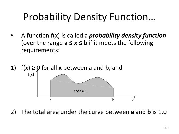 Probability Density Function…