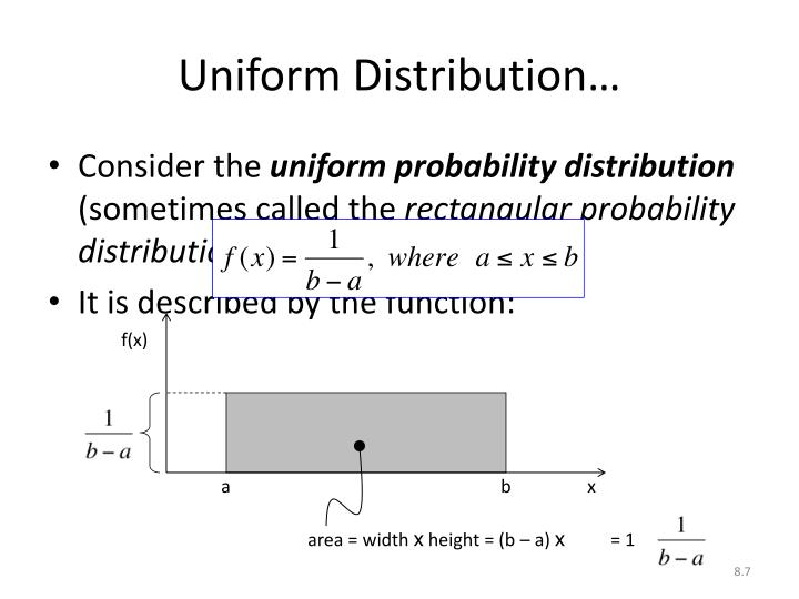 Uniform Distribution…