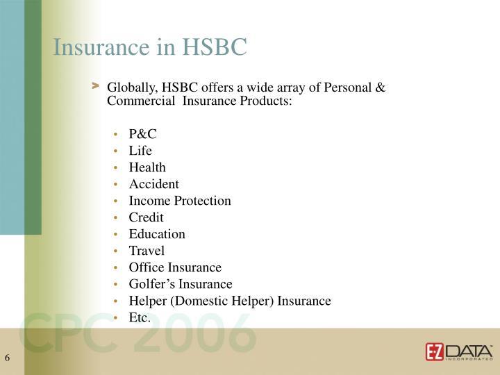 Insurance in HSBC