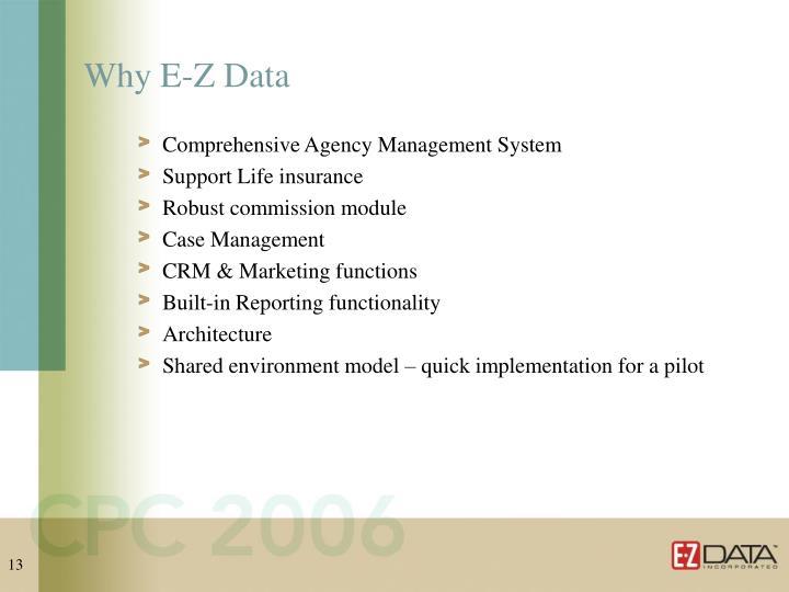 Why E-Z Data