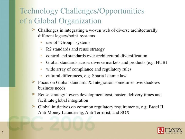 Technology Challenges/Opportunities