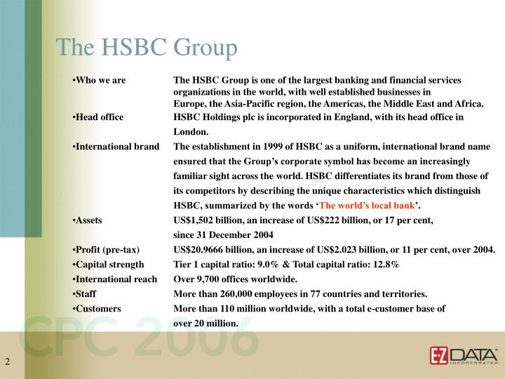 The hsbc group