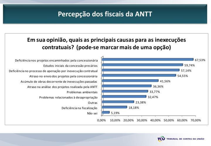Percepção dos fiscais da ANTT