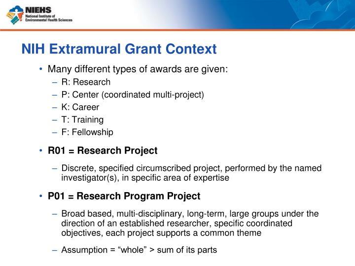 NIH Extramural Grant Context