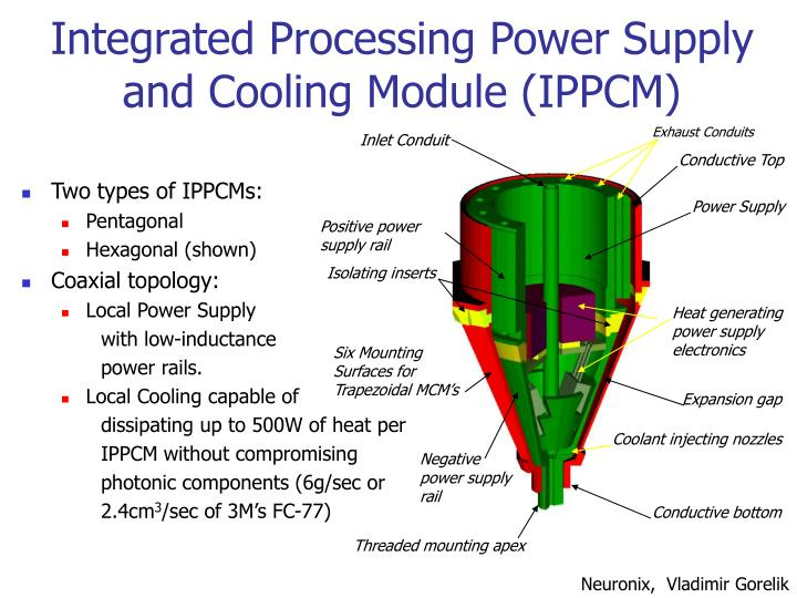 Integrated Processing Power Supply and Cooling Module (IPPCM)