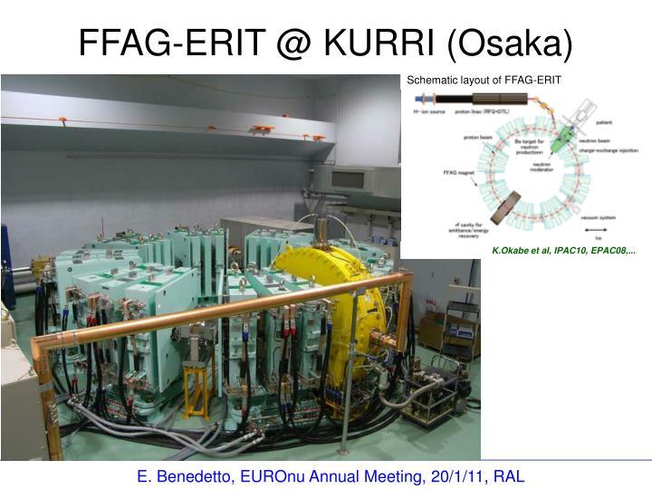 Schematic layout of FFAG-ERIT