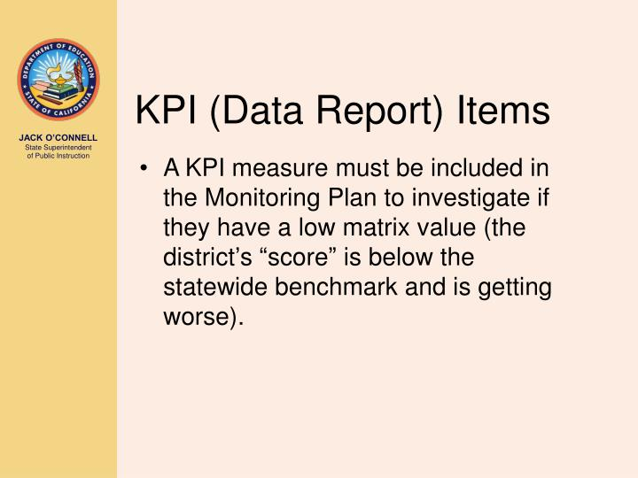 KPI (Data Report) Items