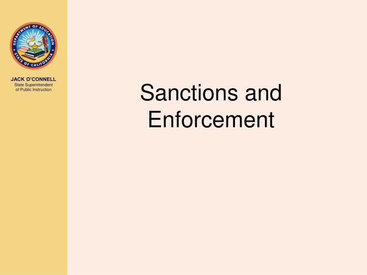 Sanctions and Enforcement