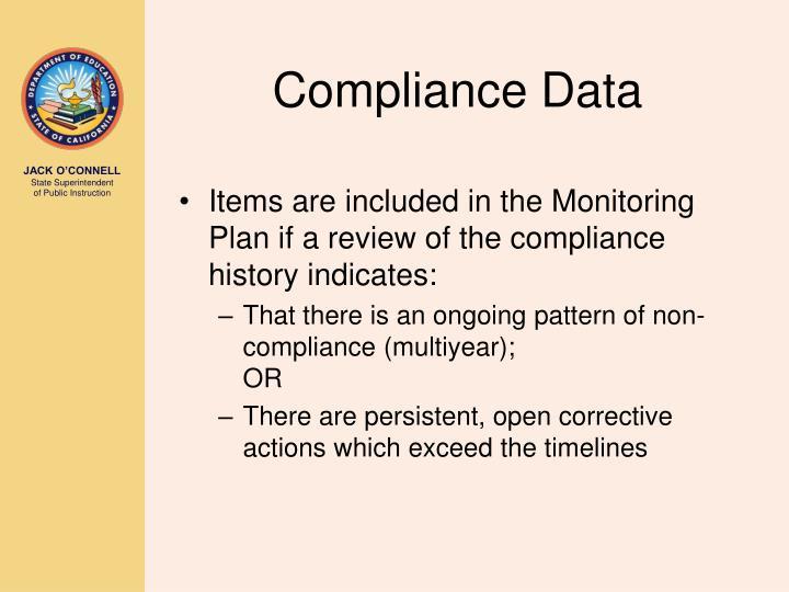Compliance Data