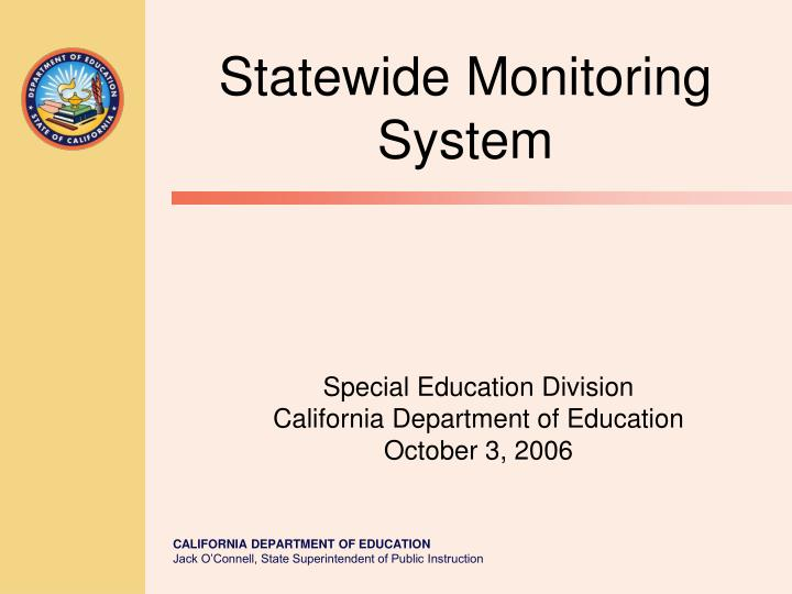 Special education division california department of education october 3 2006