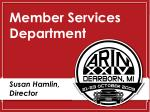 member services department