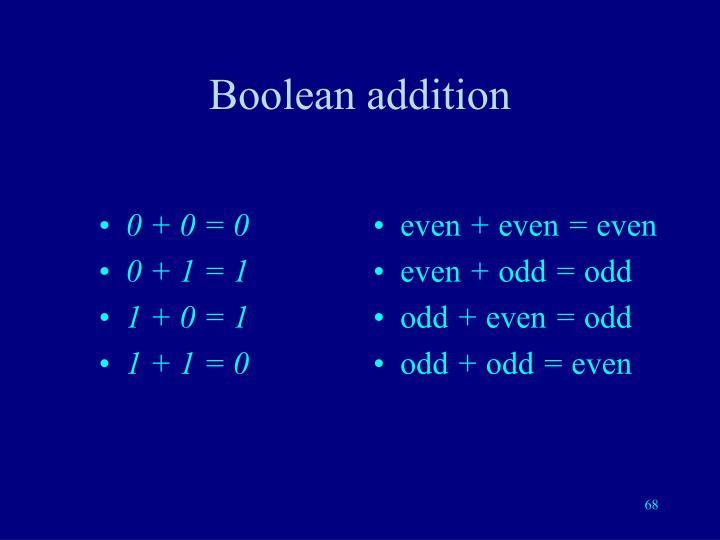 Boolean addition