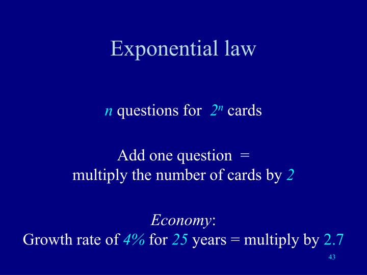 Exponential law