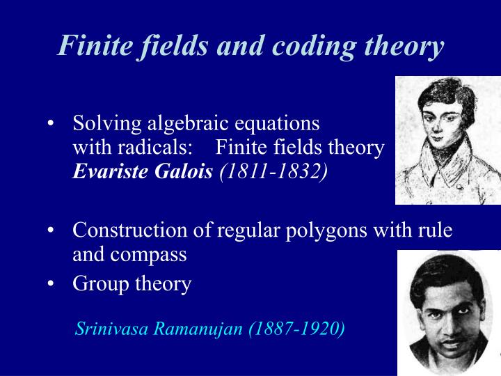 Finite fields and coding theory
