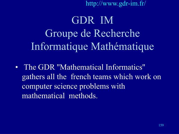 http://www.gdr-im.fr/