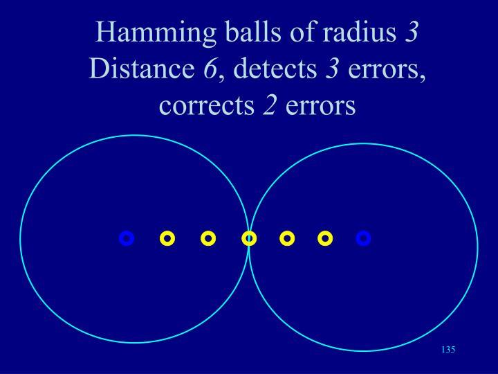 Hamming balls of radius