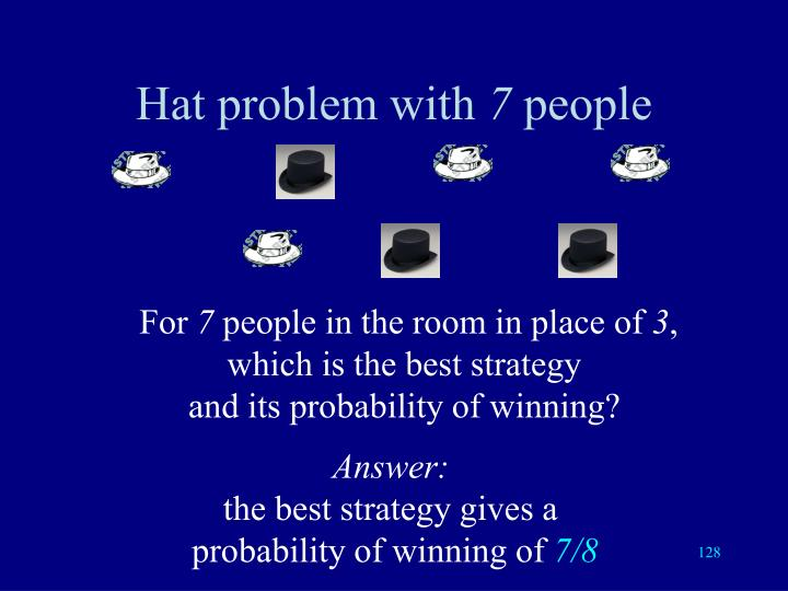 Hat problem with