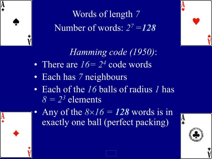 Words of length