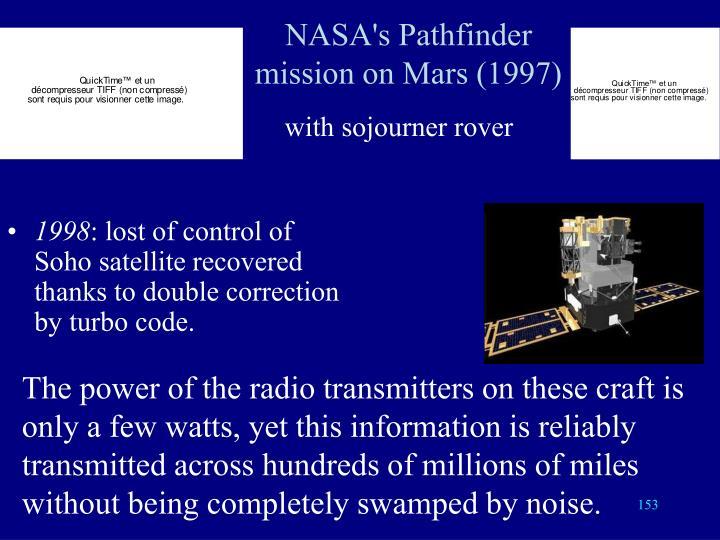 NASA's Pathfinder mission on Mars (1997)