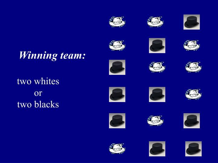 Winning team: