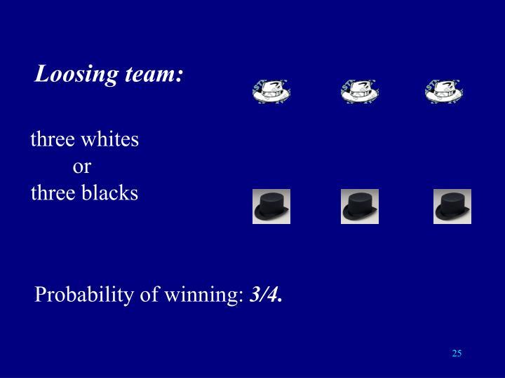 Loosing team: