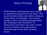 sphere packing