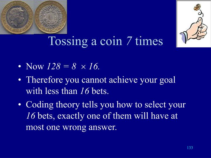 Tossing a coin