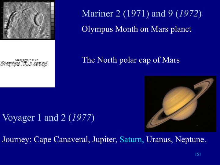 Mariner 2 (1971) and 9 (