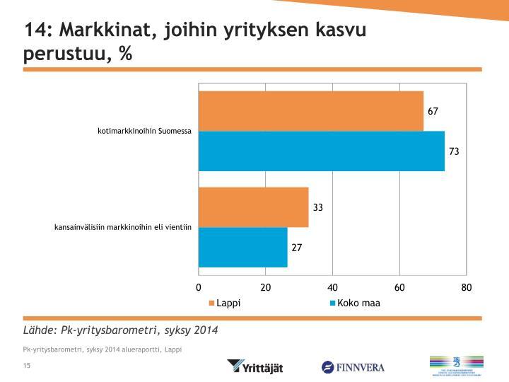 14: Markkinat, joihin yrityksen kasvu