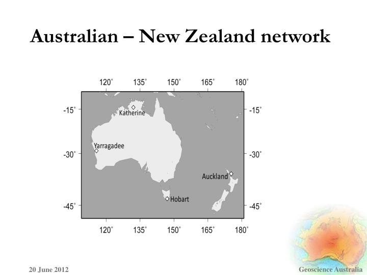 Australian – New Zealand network