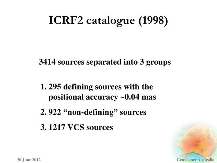 ICRF2 catalogue (1998)